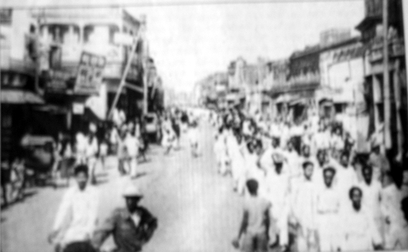 Procession on Nababpur Road on 4th February