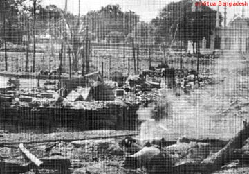 Scenes of destruction after the Pakistani Army rampage on the night of March 25