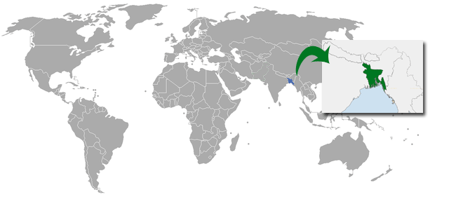 Bangladesh Location