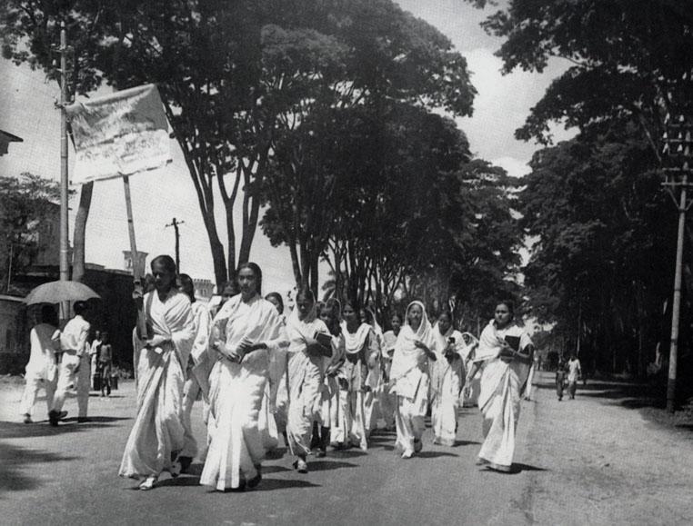 Female students of Dhaka University Protesting
